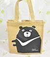 黃麻購物袋_台灣肥黑熊_公平貿易 - 設計師 繭裹子TWINE | Pinkoi