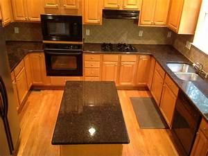 tan granite countertops Kitchen Traditional with tan brown