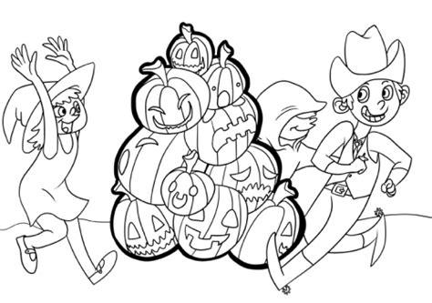 kostenlose malvorlage halloween kinder feiern eine