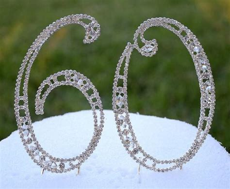large rhinestone silver number anniversary new large 5 quot rhinestone number sixty 60 cake