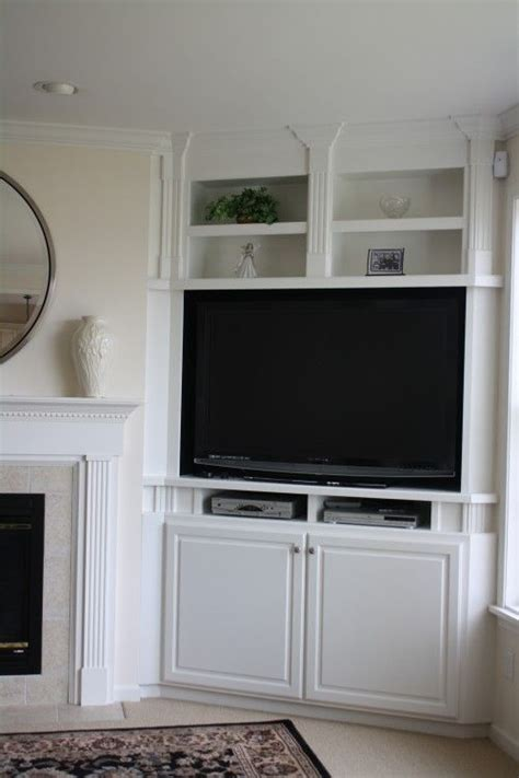 Built In Cupboards Next To Fireplace by 25 Best Ideas About Corner Tv Shelves On