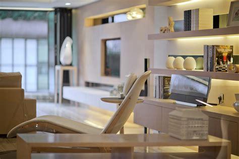 accessorized white shelving modern living steve leung