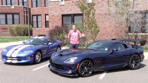 2016 Dodge Viper Acr Vs. 1997 Dodge Viper Gts