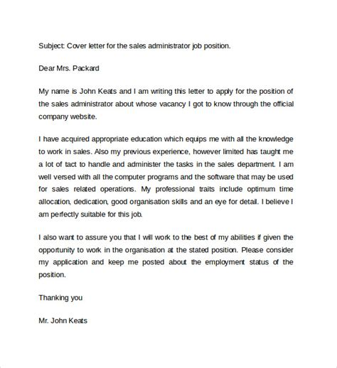 12682 administrative cover letter sles 15 cover letter exles for sales to sle
