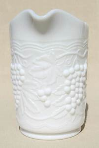 Vintage Milk Glass Pitcher W   Grapes  U0026 Swags  Imperial