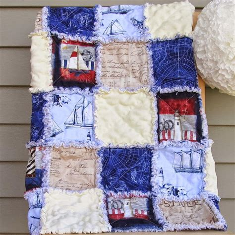 rag quilts nautical adventures rag quilt pattern favequilts com