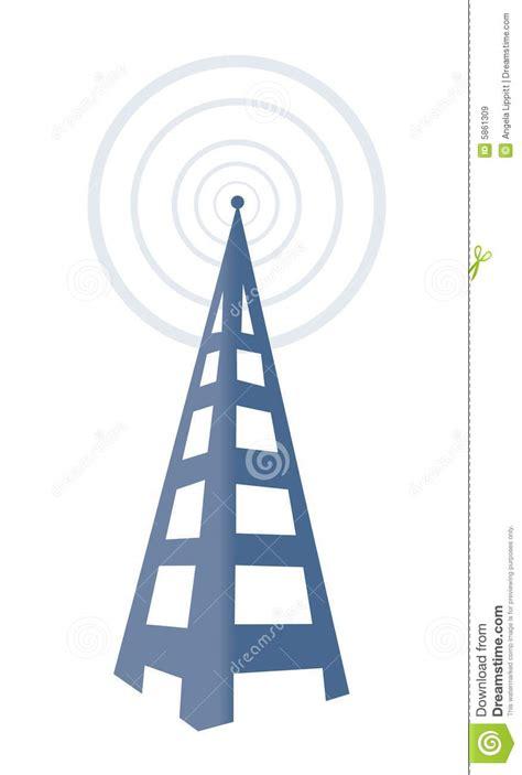 radio tower stock vector image  illustration icon