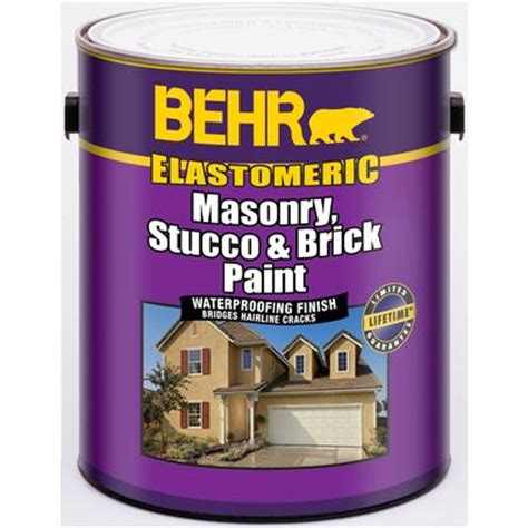 behr elastomeric masonry stucco brick paint white 3