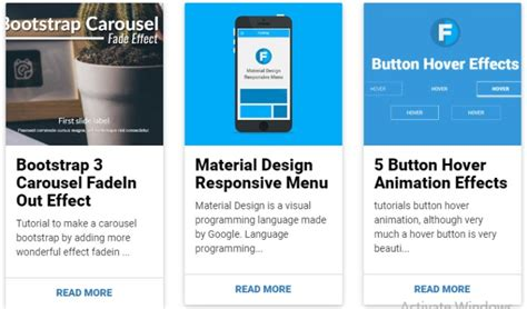 bootstrap cards csshint  designer hub
