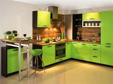 cuisine vert cuisine verte pour un intérieur naturel et doux