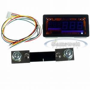 100v 100a Dc Digital Led Amp Volt Combo Meter With Shunt