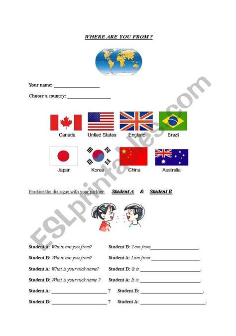 english worksheets     role playbingo