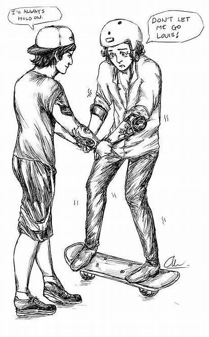 Fanart Larry Stylinson Drawings Sketch Louis Direction