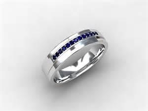 mens sapphire wedding bands blue sapphire ring wedding band mens from torkkelijewellery on