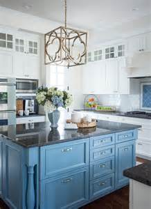 inspired home with blue and white kitchen home bunch interior design ideas - Blue Kitchen Island