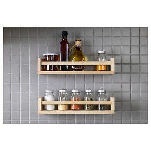 Wall Spice Holder by Pine Spice Rack Ebay