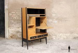 Bureau Secretaire Vintage : bureau secr taire vintage en bois pieds compas ~ Teatrodelosmanantiales.com Idées de Décoration