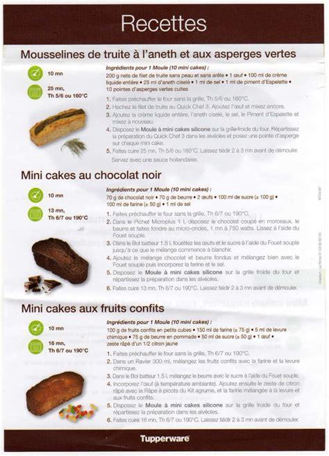 recette de cuisine tupperware mini cake chocolat tupperware le de la cuisine de