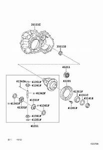 2010 Toyota Highlander Pinion  Differential Drive  Brakes  Axle  Suspension