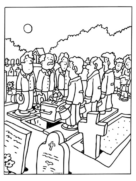 funeral coloring pages
