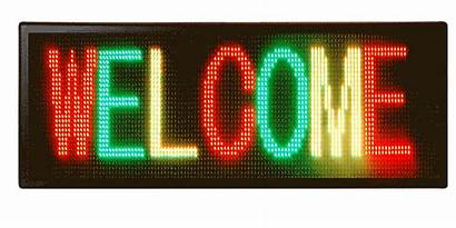 Led Sign Indoor Screen Display Message Welcome