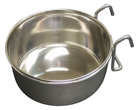 cuisine cup hook style hanging stainless steel food cup for cage