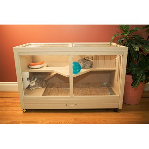 Indoor Rabbit Hutch - new rabbit hutches provide more options to house your pet