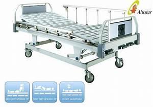 3 Crank Manual Medical Hospital Furniture Bed Aluminum