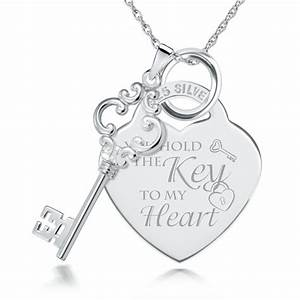 Key To My Heart : you hold the key to my heart sterling silver necklace can be personalised ~ Buech-reservation.com Haus und Dekorationen