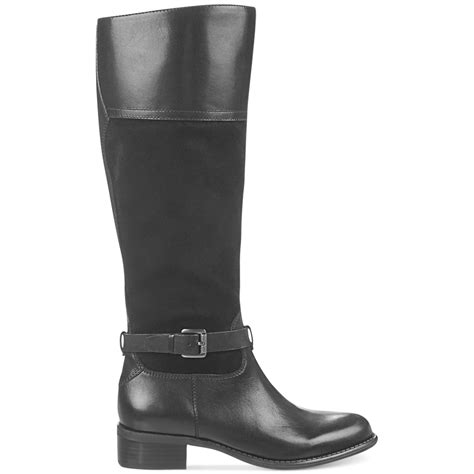franco sarto corda wide calf tall boots black lyst