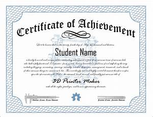 10 certificates of achievement certificate templates With certificate of attainment template