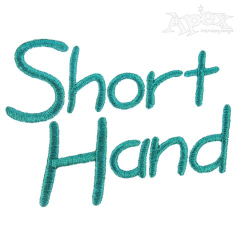 short hand embroidery fonts