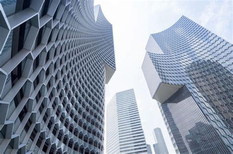 Honeycomb Shading Keeps Buro Ole Scheeren Skyscrapers