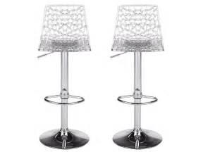 But Tabouret De Bar : lot de 2 tabourets de bar clark polycarbonate cristal ~ Teatrodelosmanantiales.com Idées de Décoration