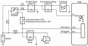 Toyota Tercel Fuel Pump Control Circuit  58722