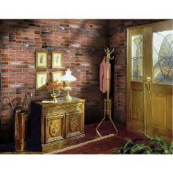interior wall paneling home depot 1 4 in x 48 in x 96 in kingston brick wall panel 278844 the home depot