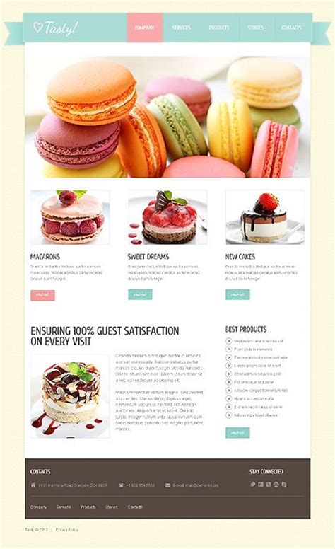Desarrollo Web Templat by Template 40806 Cakes Pastry Joomla Theme With Jquery