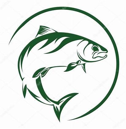 Salmon Fish Clipart Fishing Vector Illustration Bass