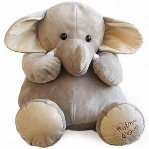 Peluche Elephant Geant : peluche el phant g ant histoire d 39 ours ~ Teatrodelosmanantiales.com Idées de Décoration