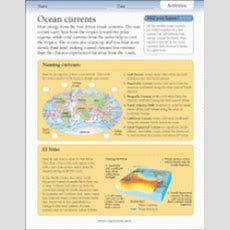 Activities Ocean Currents Printable (grades 36) Teachervision