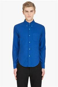 Band Of Outsiders Blue Oxford Button Down Shirt in Blue ...