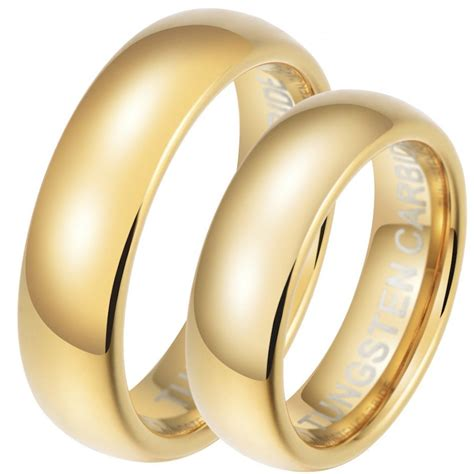 love story his hers tungsten 6mm wedding ring set
