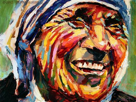 Mother Teresa Original Fine Art Acrylic & Oil Portrait