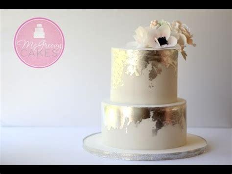 create  antique silver leaf effect  cake youtube
