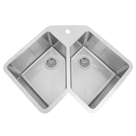 infinite corner stainless steel undermount sink kitchen