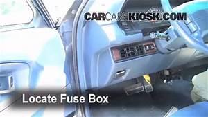 Interior Fuse Box Location  1991