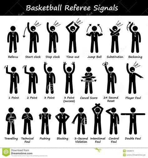 le basket ball arbitre des signaux de main de