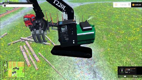 farming simulator 2015 fdr t220l grapple loader excavator mod