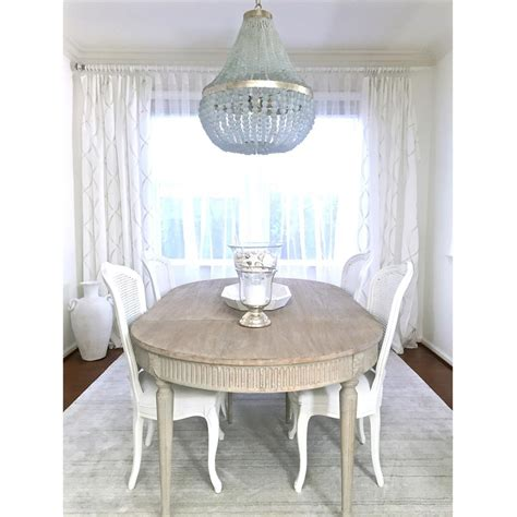 floren french country white wash oak extendable breakfast