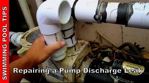 repairing  pump discharge leak youtube